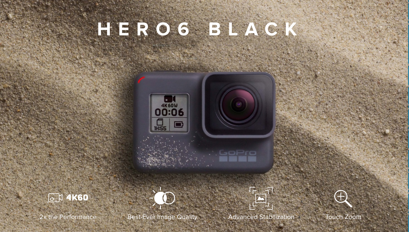 GoPro Hero 6 Black Shoots 4K Video at 60 fps Better Stabilization and HDR Photos