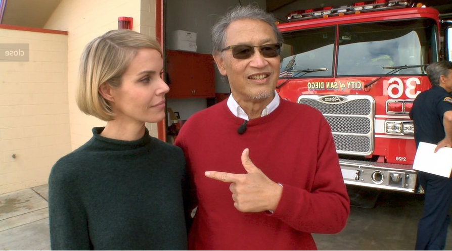 San Diego man thanks firefighters and family friend for saving his life
