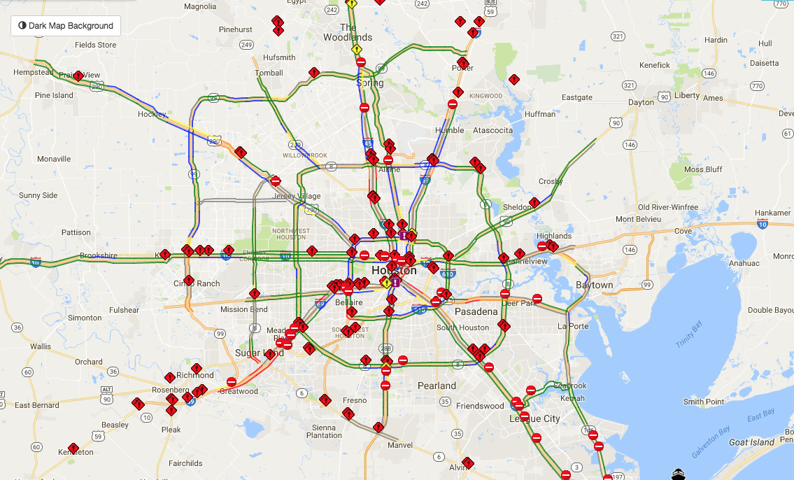 List of icy locations on Houston area roads