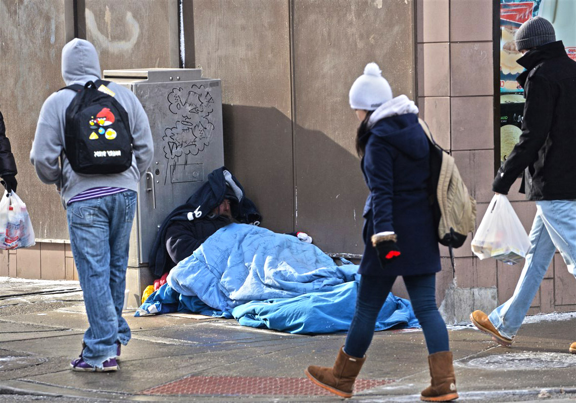Hope for the Homeless: Students distribute hand-made care packages to the homeless