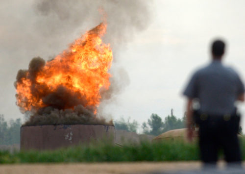 Large fire erupts at a scrap yard in Delaware County