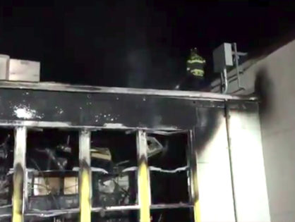 Suspicious fire at Grant high school in Sacramento, CA (VIDEO)