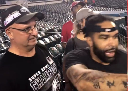 Philadelphia Eagles Fans Help Fellow Fan Spread Dad's Ashes At The LINC