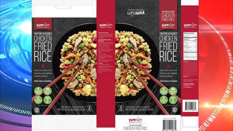 Harvest Food Group is recalling more than 47,000 pounds of chicken fried rice products shipped across Illinois and Michigan