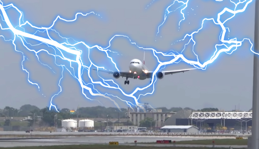 Two airplanes get struck by lightning and are forced to make emergency landing