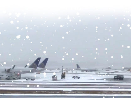 Newark Liberty International Airport is stopping flights due to weather conditions